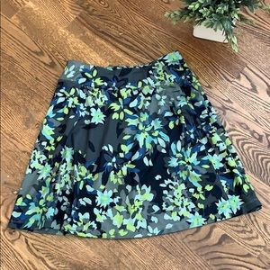 REI Athleisure Floral Gray Blue Green Skirt